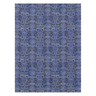 DAMASK2 BLACK MARBLE & BLUE WATERCOLOR TABLECLOTH
