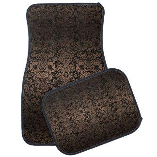 DAMASK2 BLACK MARBLE & BRONZE METAL CAR MAT