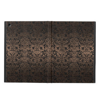 DAMASK2 BLACK MARBLE & BRONZE METAL CASE FOR iPad AIR
