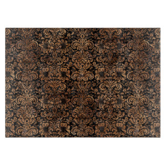 DAMASK2 BLACK MARBLE & BROWN STONE CUTTING BOARD