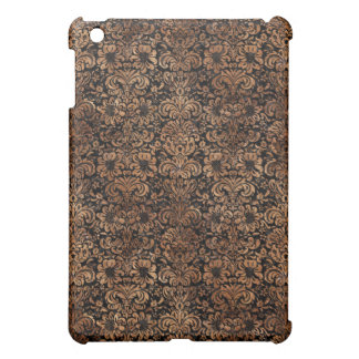 DAMASK2 BLACK MARBLE & BROWN STONE iPad MINI COVER