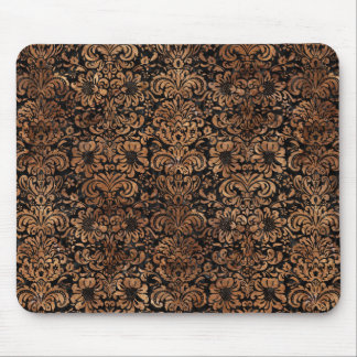 DAMASK2 BLACK MARBLE & BROWN STONE MOUSE PAD