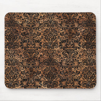 DAMASK2 BLACK MARBLE & BROWN STONE (R) MOUSE PAD