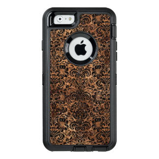 DAMASK2 BLACK MARBLE & BROWN STONE (R) OtterBox DEFENDER iPhone CASE