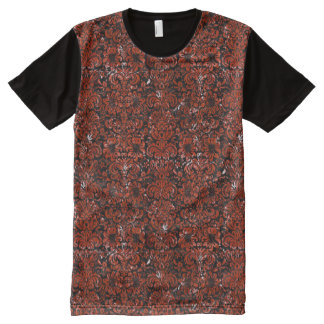 DAMASK2 BLACK MARBLE & RED MARBLE All-Over PRINT T-Shirt