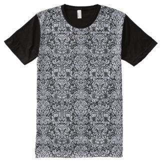 DAMASK2 BLACK MARBLE & WHITE MARBLE All-Over PRINT T-Shirt