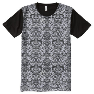 DAMASK2 BLACK MARBLE & WHITE MARBLE (R) All-Over PRINT T-Shirt