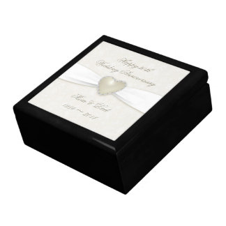 Damask 30th Wedding Anniversary Gift Box