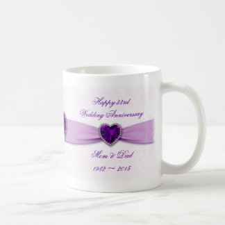 Damask 33rd Wedding Anniversary Mug