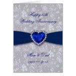 Damask 45th Wedding Anniversary Greeting Card