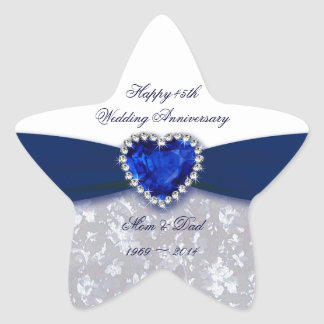 Damask 45th Wedding Anniversary Sticker