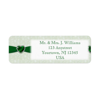 Damask 55th Wedding Anniversary Address Label