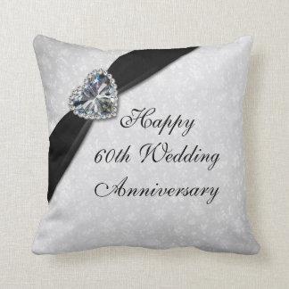 Damask 60th Wedding Anniversary Throw Pillow Throw Cushion