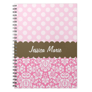 Damask and Dots Spiral Notebook