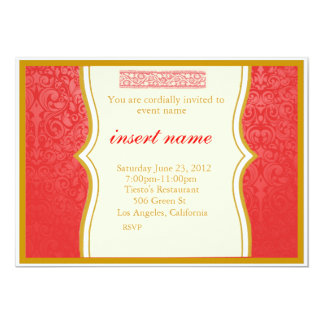 Damask and Indian Styled Invite