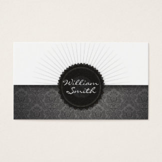 Damask and monogram Business Card