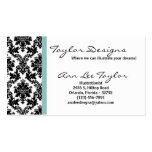 Damask and Tiffany Blue Elegant Business Card