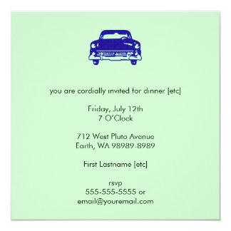 Damask Auto 13 Cm X 13 Cm Square Invitation Card