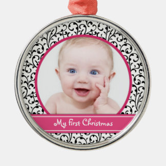 Damask Baby s First Christmas Ornament