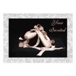 Damask Ballet Shoes Dance Recital Invitation