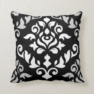 Damask Baroque Design Monochrome Cushion