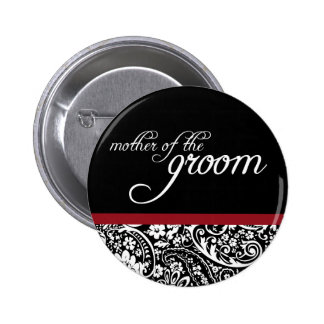 Damask Beauty Mother of the Groom Button