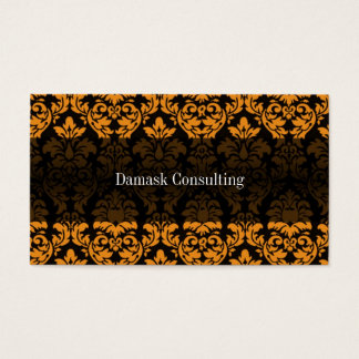 Damask Biz Card (Orange)