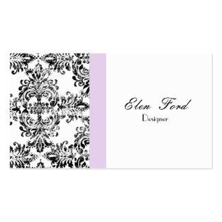 Damask Black and White  Elegant Business Cardss Pack Of Standard Business Cards
