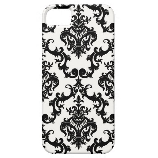 Damask Black and White iPhone 5 Case