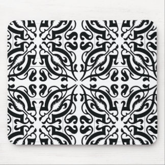 DAMASK - Black & white Mouse Pad