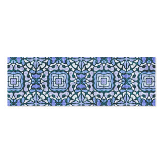 Damask Blue and White Intricate Decorative Pattern Pack Of Skinny Business Cards