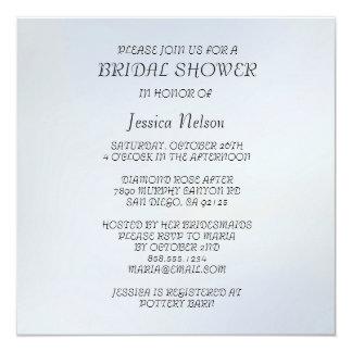 Damask Blue Hibiscus Bridal Shower Invitation Custom Invites