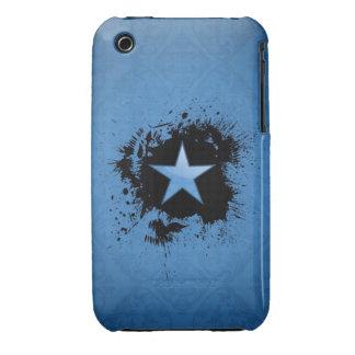 damask blue star on inksplash Case-Mate iPhone 3 cases