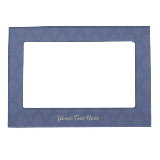 Damask Blue Tone on Tone Magnetic Picture Frames