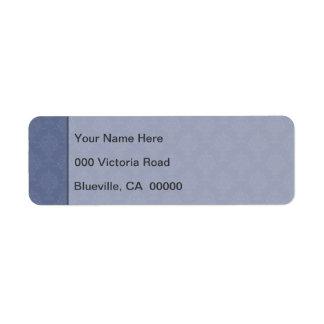 Damask Blue Tone on Tone Return Address Label