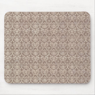 Damask Brown Pattern Mouse Pad