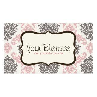 Damask Business Card (pink/brown)