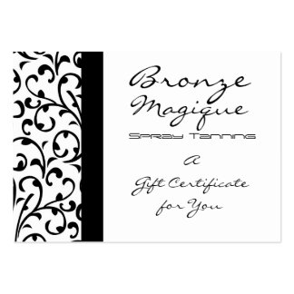 Damask Business Gift Certificate Card Pack Of Chubby Business Cards