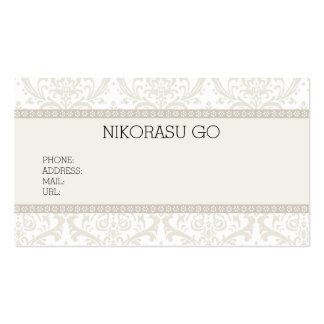 DAMASK BUSINESSCARD PACK OF STANDARD BUSINESS CARDS