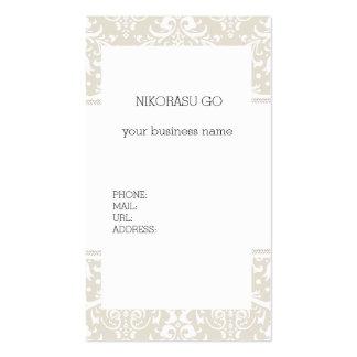 DAMASK BUSINESSCARD PACK OF STANDARD BUSINESS CARDS