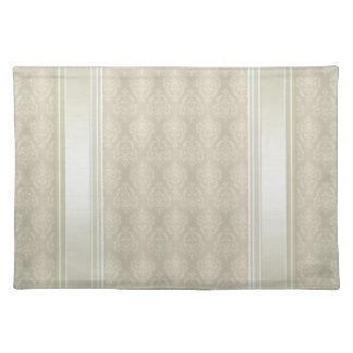 Damask Candlelight Cream Placemat