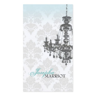 Damask Chandelier Business Card