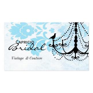 Damask Chandelier Business Card