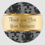 Damask Customer Thank You Stickers
