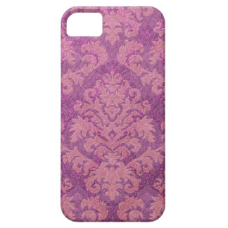 Damask Cut Velvet, Double Damask in Pink & Plum Barely There iPhone 5 Case