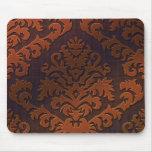 Damask Cut Velvet, Shadow in Orange & Brown