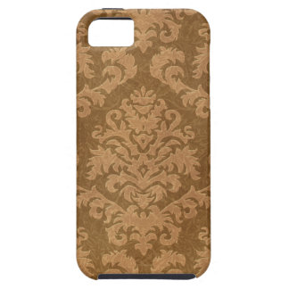 Damask Cut Velvet, Tapestry in Shades of Brown iPhone 5 Covers
