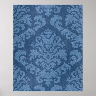 Damask Cut Velvet, Tapestry Poster