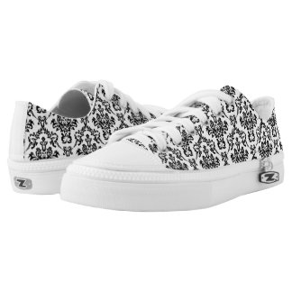 Damask decor low tops