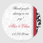 Damask Delight Favour Round Stickers